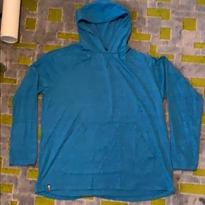Nice North Face Teal Blue L/S hoody